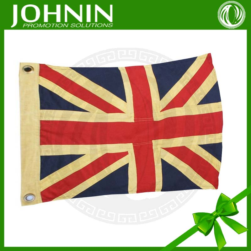 Excellent factory directly Sewn cotton union jack flags