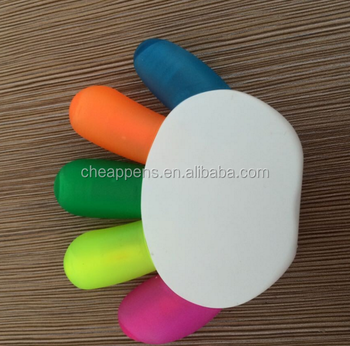 most popular customized 5 color finger highlighter marker for children
