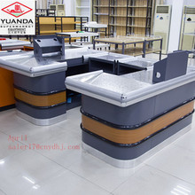 Supermarket checkout counter shop counter table design YUANDA cashier equipment