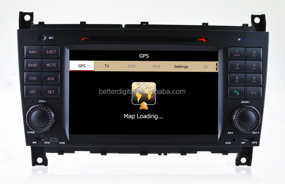 car dvd radio for mercedes w203