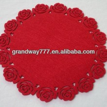 Round Felt Placemats In Laser Cut