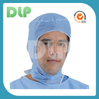 Color soft non-woven surgical cap is single elastic or double elastics.