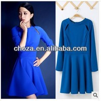 C60907A TOP FASHION 2014 EUROPEAN SPRING STYLE WOMEN'S COLORS DRESS