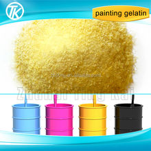 Industrial grade gelatine as adhesive glue