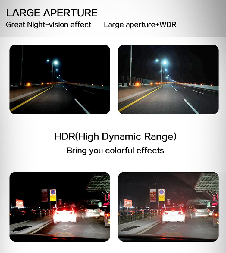 L7 170 degree wide angle car camera/ infrared night vision HD car camera/ 1080p dvr car camera