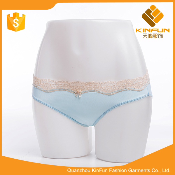 Oem fashion clothes factory blue breathable women underpants