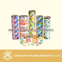 Preformed roll plastic PP/PET/PS/PET fruit tray lidding film