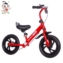 "China factory wholesale 12"" baby small bicycle cheap price kids balance bike with handle and rubber wheel"