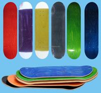 "31x7.75"" Stained Color Canadian Maple Skateboard Deck"