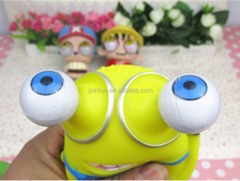 Custom plastic vinyl Critical eye doll, movie figure yellow man fun toy,OEM plastic vinyl PVC toy