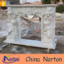 religious polished fireplace surround mantel NTMF-F508X