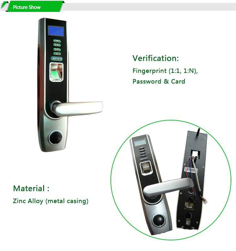Optional Smart Card Open Safe Fingerprint Door Lock Key Body Door Lock For Security Terminal Home