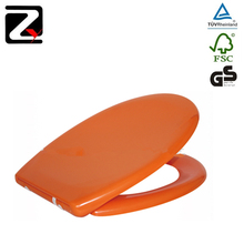 Colorful duroplast orange toilet seat cover