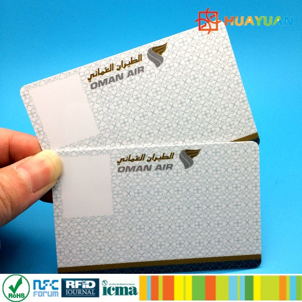 UID Nubmer Printing ISO1443A MIFARE Classic 1K Blank PVC Card