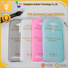 cell phone accessory 0.3mm clear transparent tpu back cover case for Asus Zenfone 2 Laser ZE550KL
