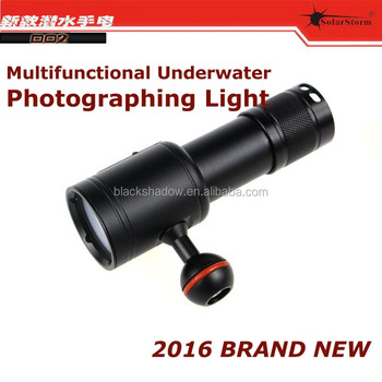 Solarstorm D02 multifunction underwater photographing light diving flashlight