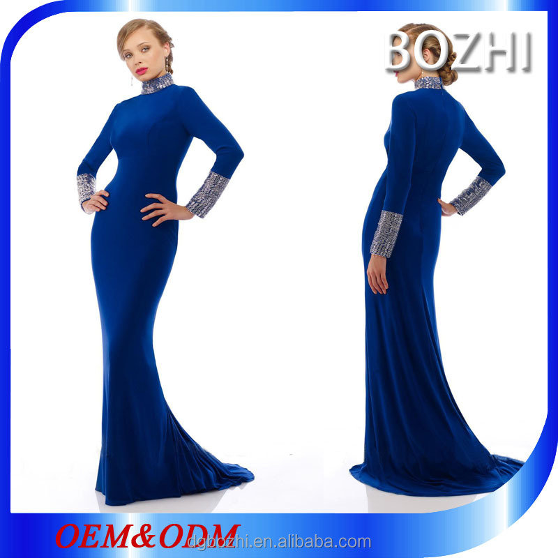 Royal blue and white mother of the bride wedding dress patterns ball gown