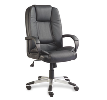 boss chair office chair manager chair with sliver armrest soft cushion chrome gaslift pu wheels JYX0031