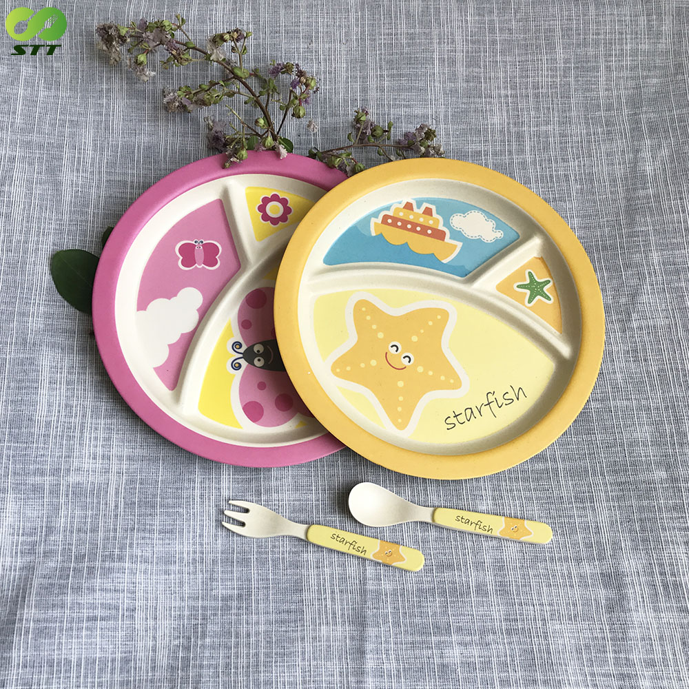 Top Food Grade Container biodegradable children's tableware gift sets