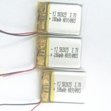 180MAH 3.7V 502025 Rechargeable lipo Battery from YJ Power