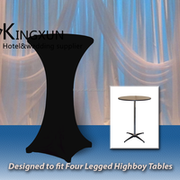 Four Leg Highboy Cocktail Table Cover \ Spandex Table Cover