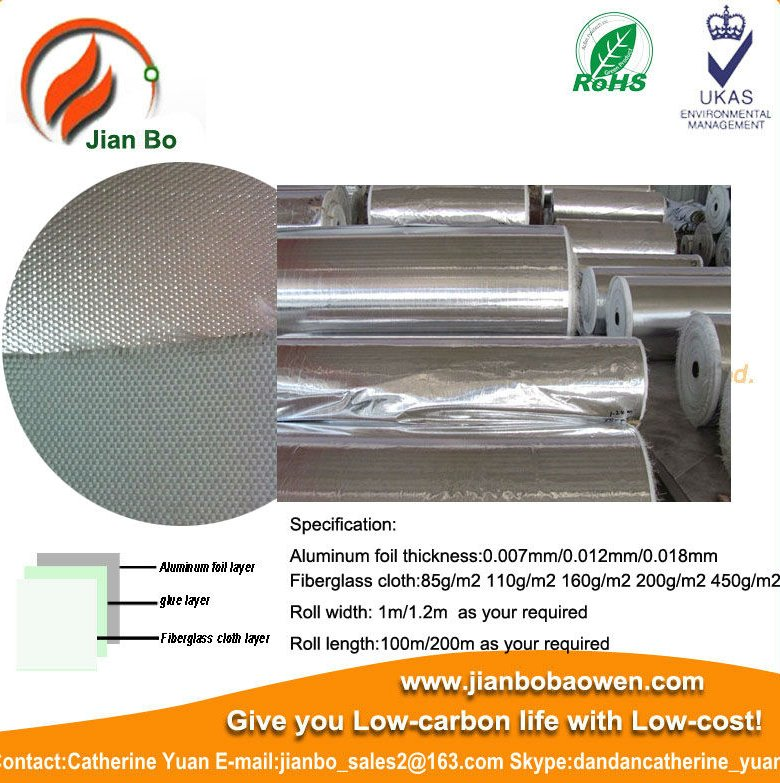Aluminum foil laminated fiberglass acoustic and thermal insulation materials