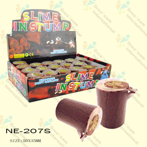 Slime In Stump Toys/oozy slime toys/galaxy putty slime toys