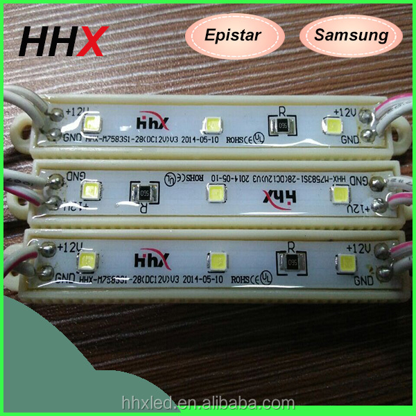 factory direct sale 2835 rectangular epoxy led module 3 leds store front sign light