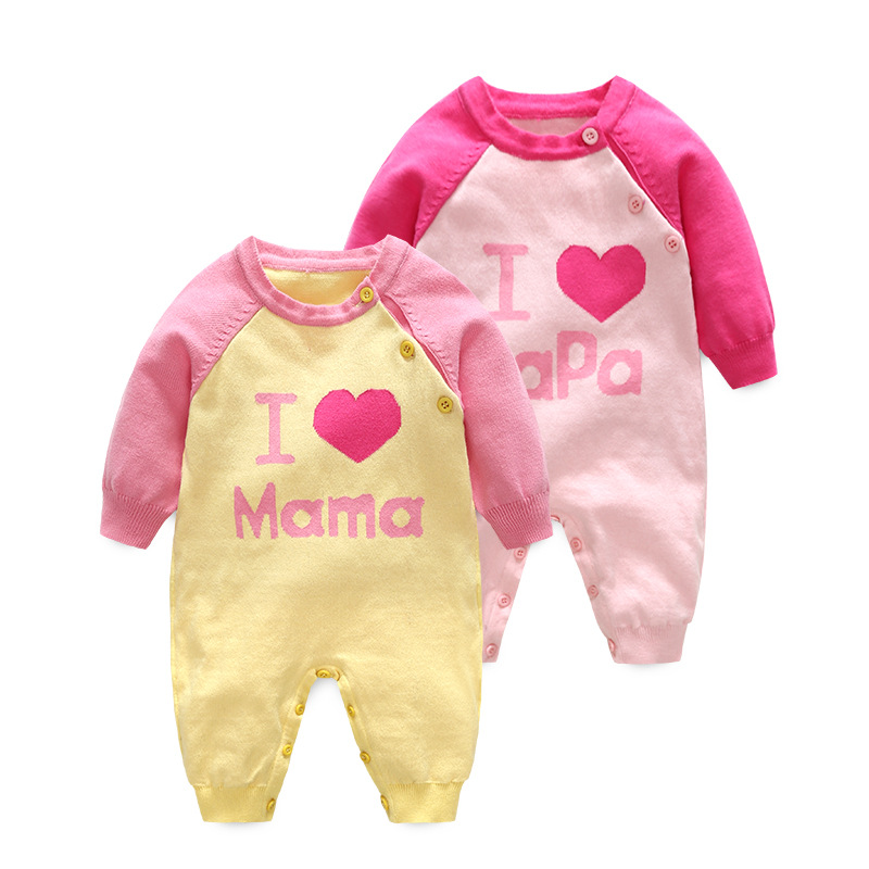 Alibaba China Factory Winter Clothes Plain Baby Cotton Long Sleeve Romper For Baby Girls