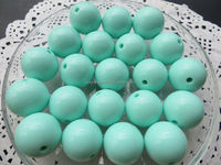 AAA quality 20mm light mint green color Chunky Gumball Bubblegum ,acrylic solid beads for Necklace Jewelry
