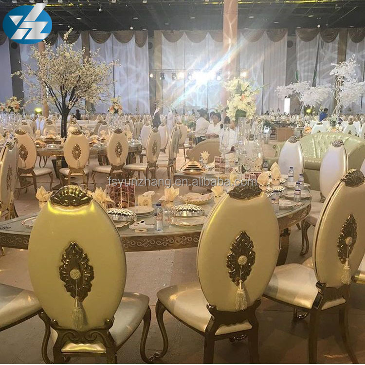 Stainless Steel Frame French Style Wedding Chair