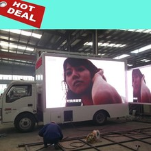 Sunrise Dongfeng Brand Mobile Advertising Trucks/used digital armored mobile billboard truck for sales