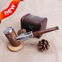 New style bottom led button vapor wooden mod e-cig Kamry K1000 Plus e pipe