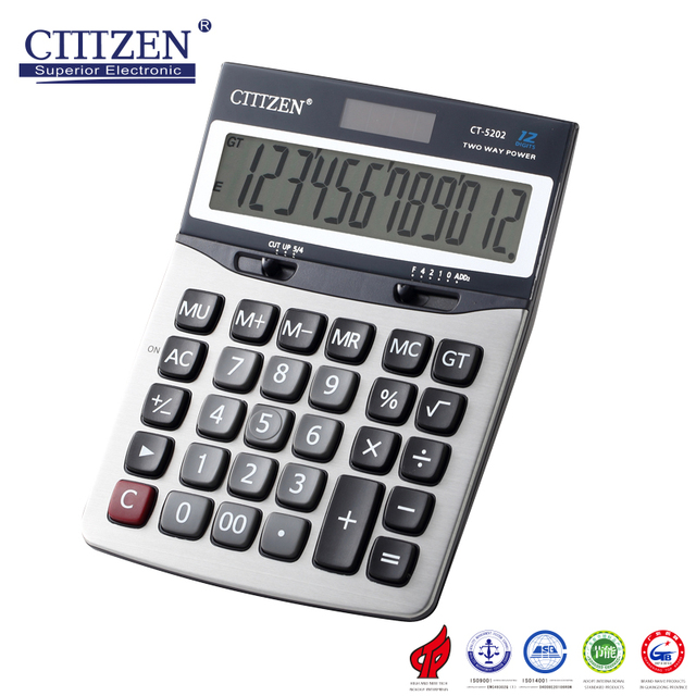 GTTTZENvery good quality Check And Correct Function Promotional Plastic 12 Digit Calculator with 12 digits CT-5202