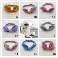 Cotton Rabbit Ear Kids Elastic Headband