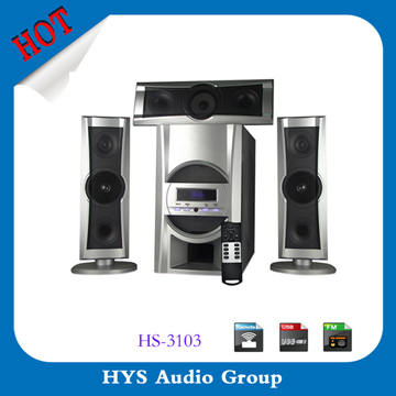 2015 hot sale 3.1 speaker built in amplifier with usb port