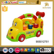 Plastic mini musical toy electric bus