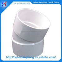 5 inch 22.5 degree PVC elbow pipe fitting for bathroom