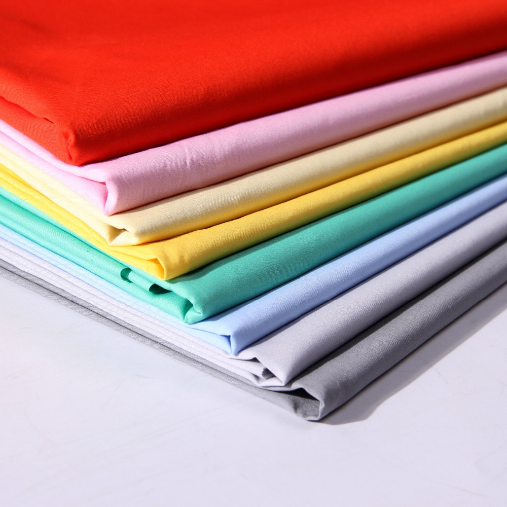 Different kinds 55% cotton 45% polyester dyeing cvc fabrics poplin to shirt