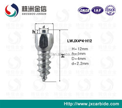HM12 Hot Sales Zhuzhou Tungsten Removable Spikes Carbide Tire Studs For Motorcycle