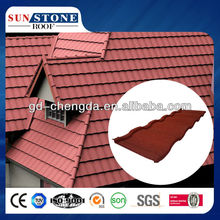Steel Roof Tile Advanced materials in construction Roman Metal Stone Coated Roof Tile house construction finishing material