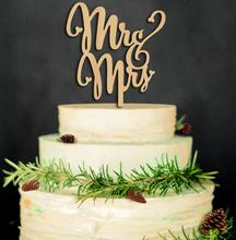 Faithidmarket MagiDeal Mr&Mrs Wooden Cake Toppers Wedding Party Cake Decorating 2017100608