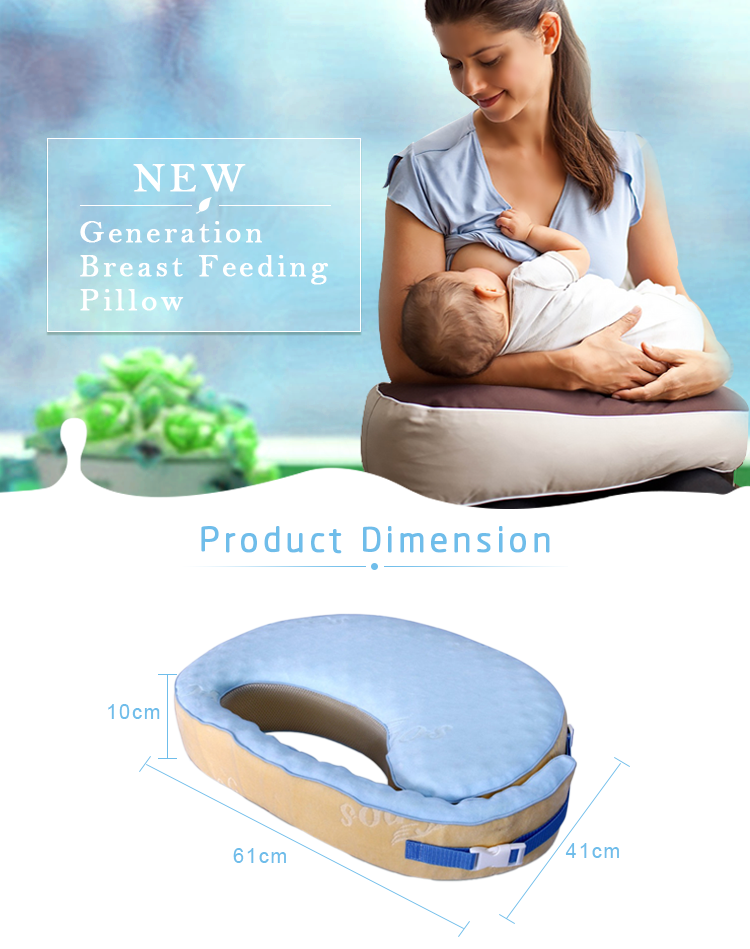 Mother Use Babies Cute Soft Cover Memory Foam Baby Twins Positioner Breastfeeding Nursing Pillow