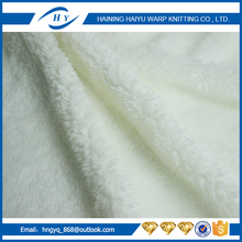 polyeser sherpa fabric for hoodie