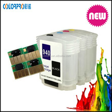 For HP 940 940XL empty refill ink cartridge for HP officejet 8000 8500A 8500W printer ink cartridge with ARC chip