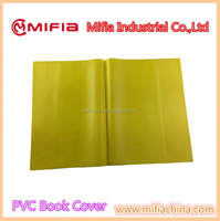 Wenzhou manufacturer OEM & ODM all kinds plastic school plain color a4 notebook leather pvc book cover design