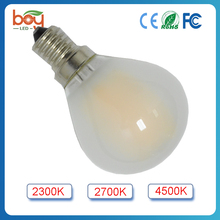 dimmable frosted filament bulb light,e12 e14 e27 led filament bulb lamp
