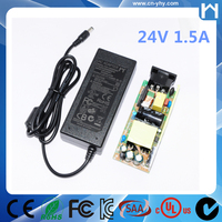 1.67Amp 24Vdc 40W AC DC Adapter KC approved UL 1310 Class 2 Power Supply