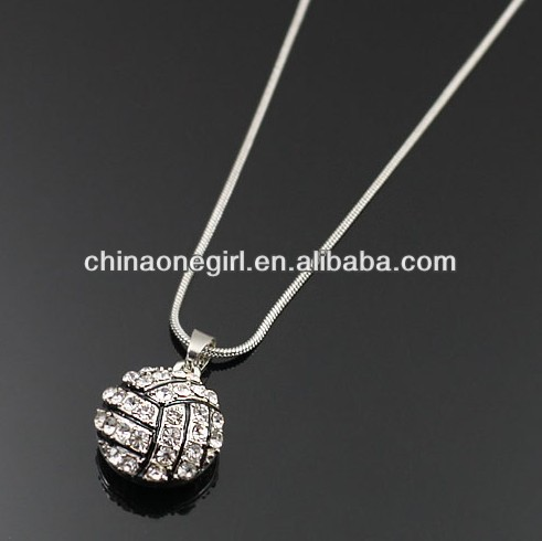 Rhinestone Volleyball Fashion Simple <strong>Necklace</strong>
