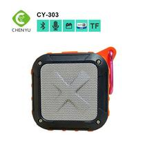 OEM experience 3w Super bass portable waterproof bluetooth speaker with 400mAh battery